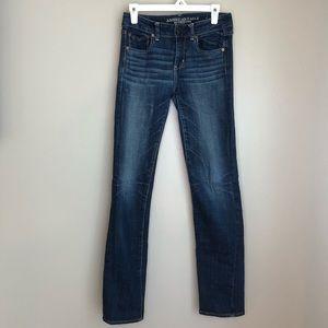 AEO Straight Super Stretch Jeans - Sz 4, EUC